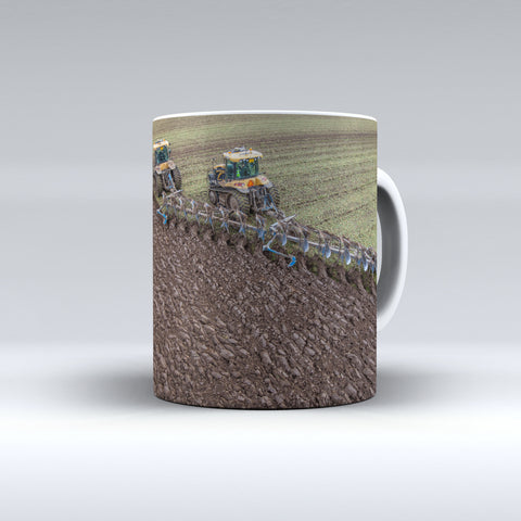 Challenger Crawlers Ploughing Together Ceramic Mug