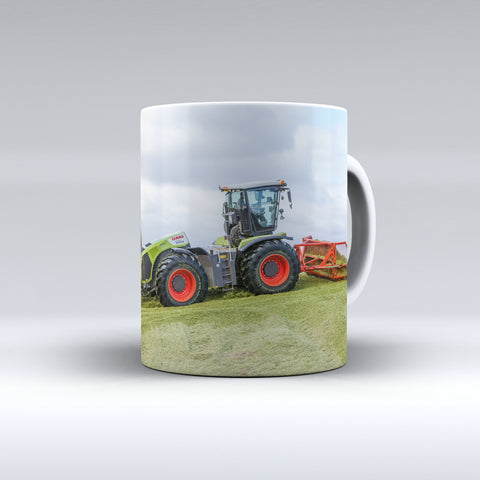 Claas Xerion On The Clamp Ceramic Mug