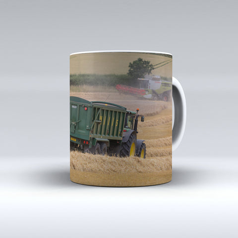 Claas Lexion Combine Harvester In Action Ceramic Mug
