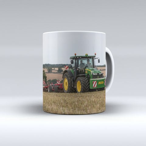 John Deere 8R Cultivating Ceramic Mug