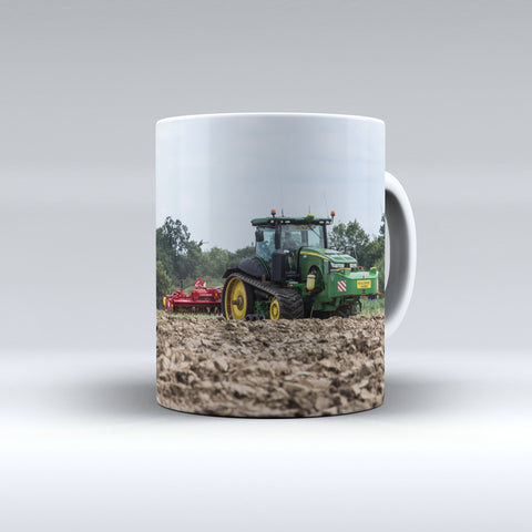 John Deere 8RT Cultivating Ceramic Mug