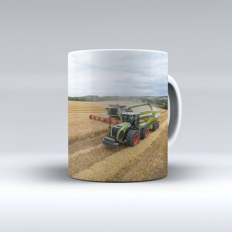 Claas Xerion 5000 and Matching Chaser Bin With Claas Lexion Ceramic Mug.
