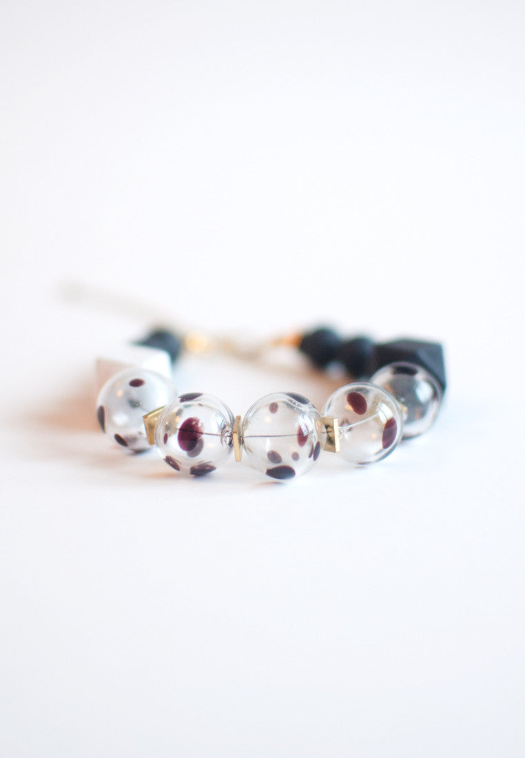 Glass Beaded Bracelet - sanwaitsai