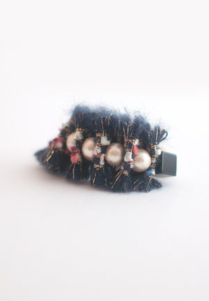 Wool Cotton Pearls Bracelet - sanwaitsai