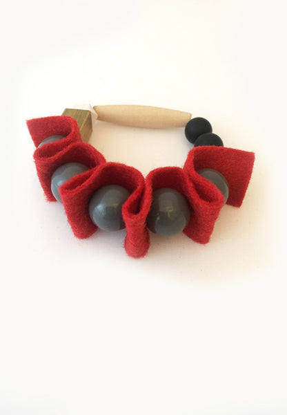 Red Rubber Band Bracelet - sanwaitsai