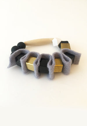 Grey Rubber Band Bracelet - sanwaitsai
