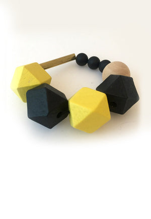 Wood Rubber Band Bracelet - sanwaitsai - 1