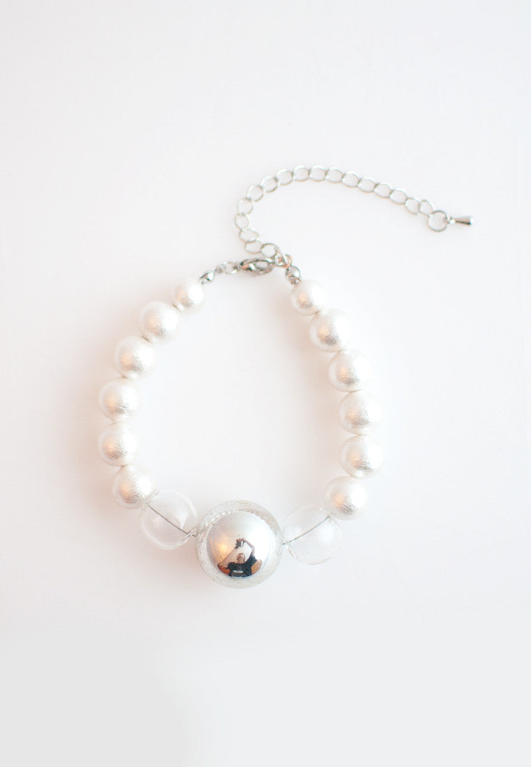 Cotton Pearls Glass Bracelet - sanwaitsai - 4