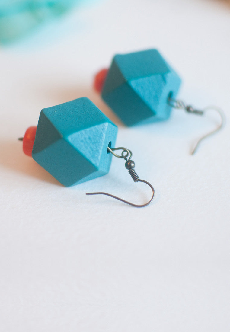 Sky Blue Earrings - sanwaitsai