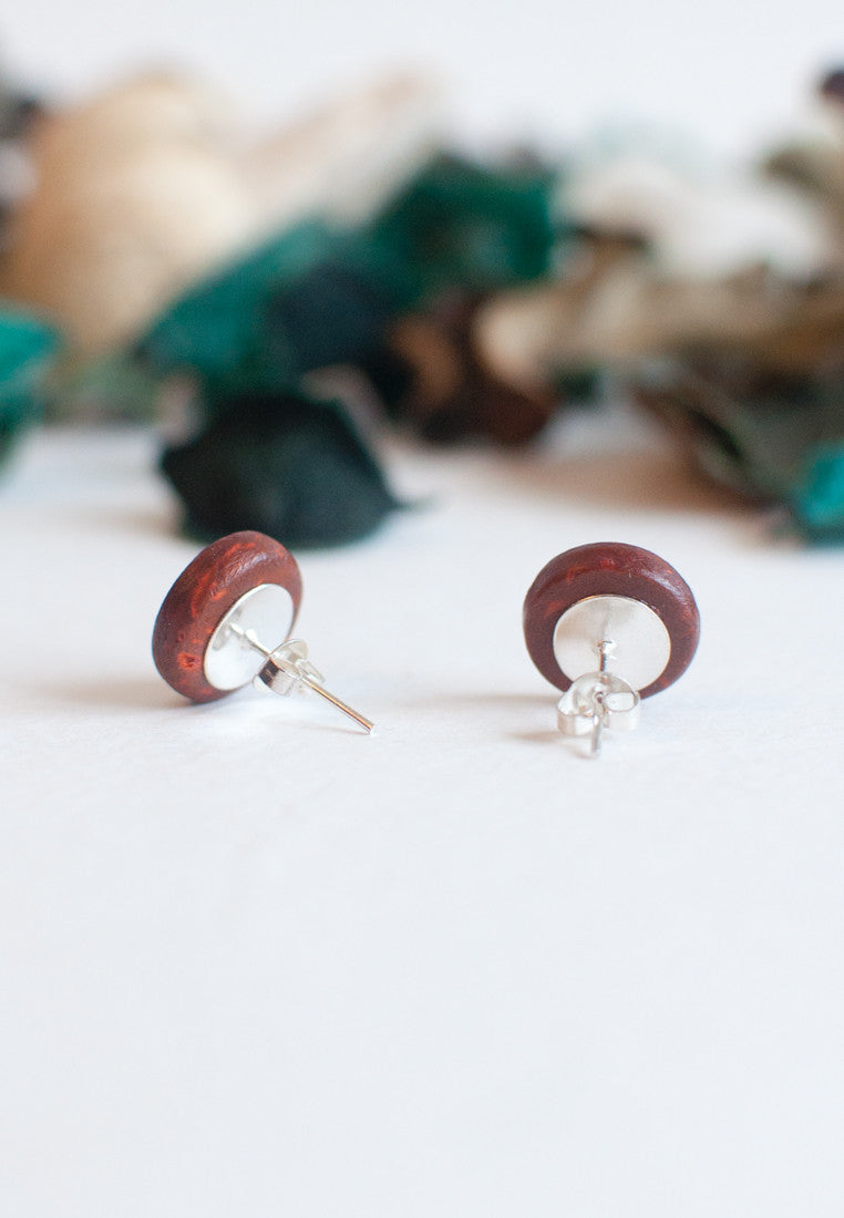 Wood Earrings - sanwaitsai
