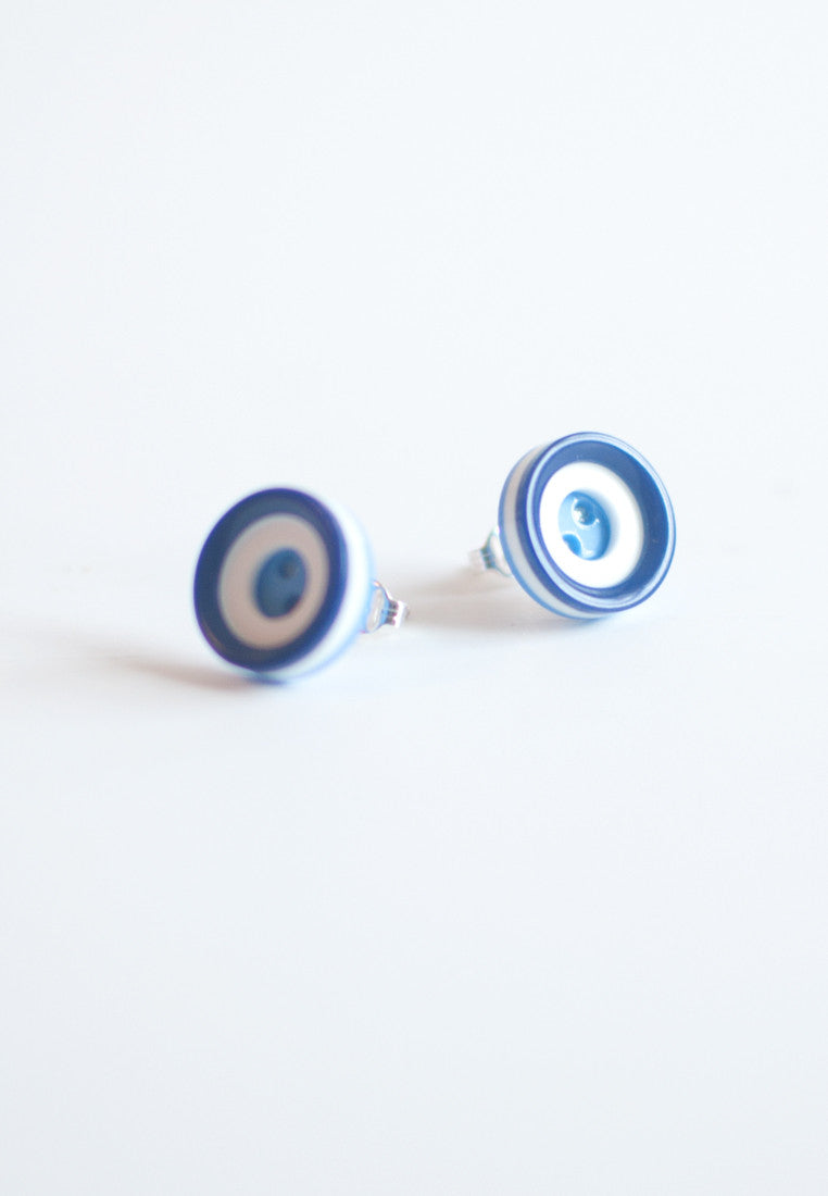 Blue Vinage Earrings - sanwaitsai