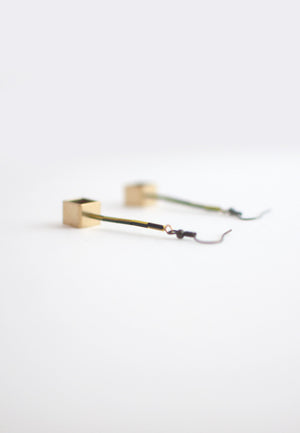 Resin Metal Earrings - sanwaitsai - 6