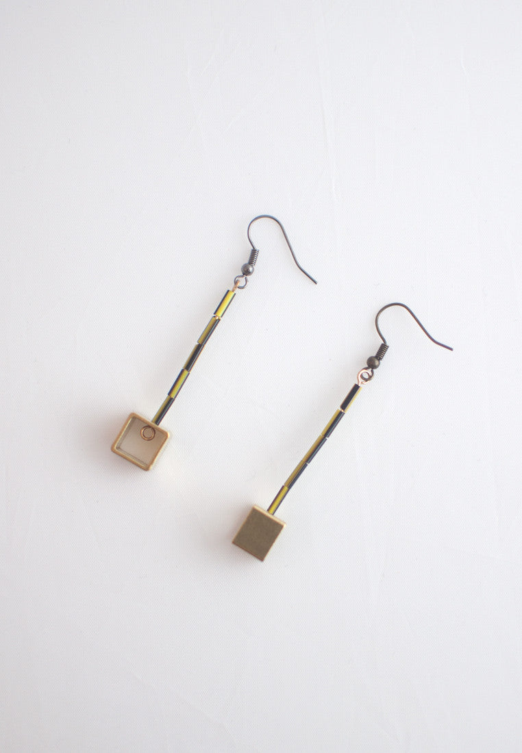 Resin Metal Earrings - sanwaitsai - 8