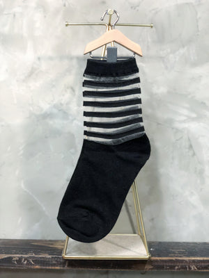 Striped Transparency Socks