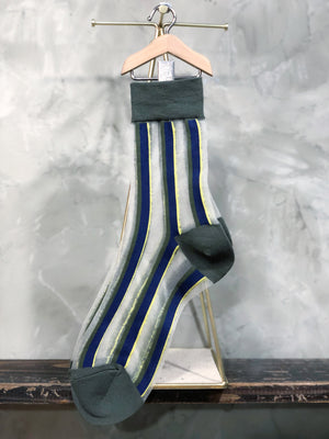 See Through Stripes Socks