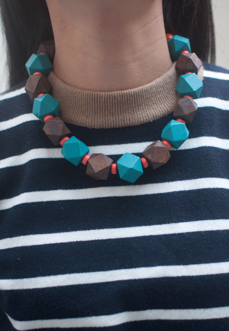 Chocolate Brown Necklace - sanwaitsai