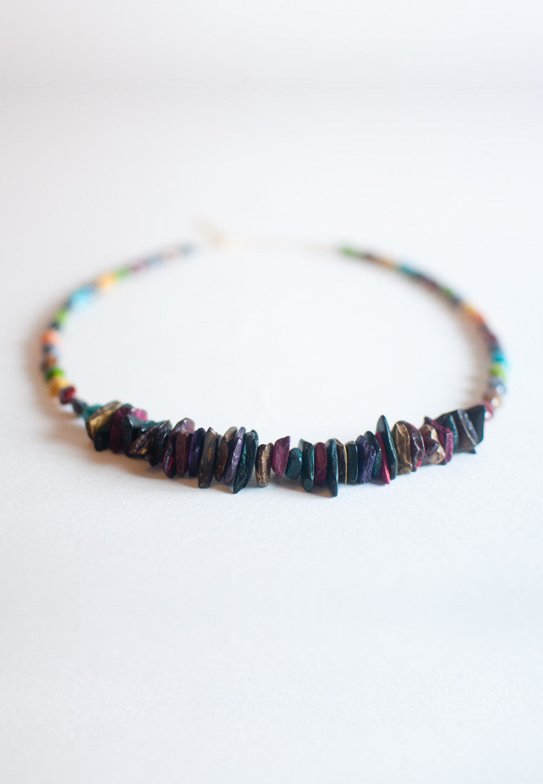 Stone Pieces Necklace - sanwaitsai