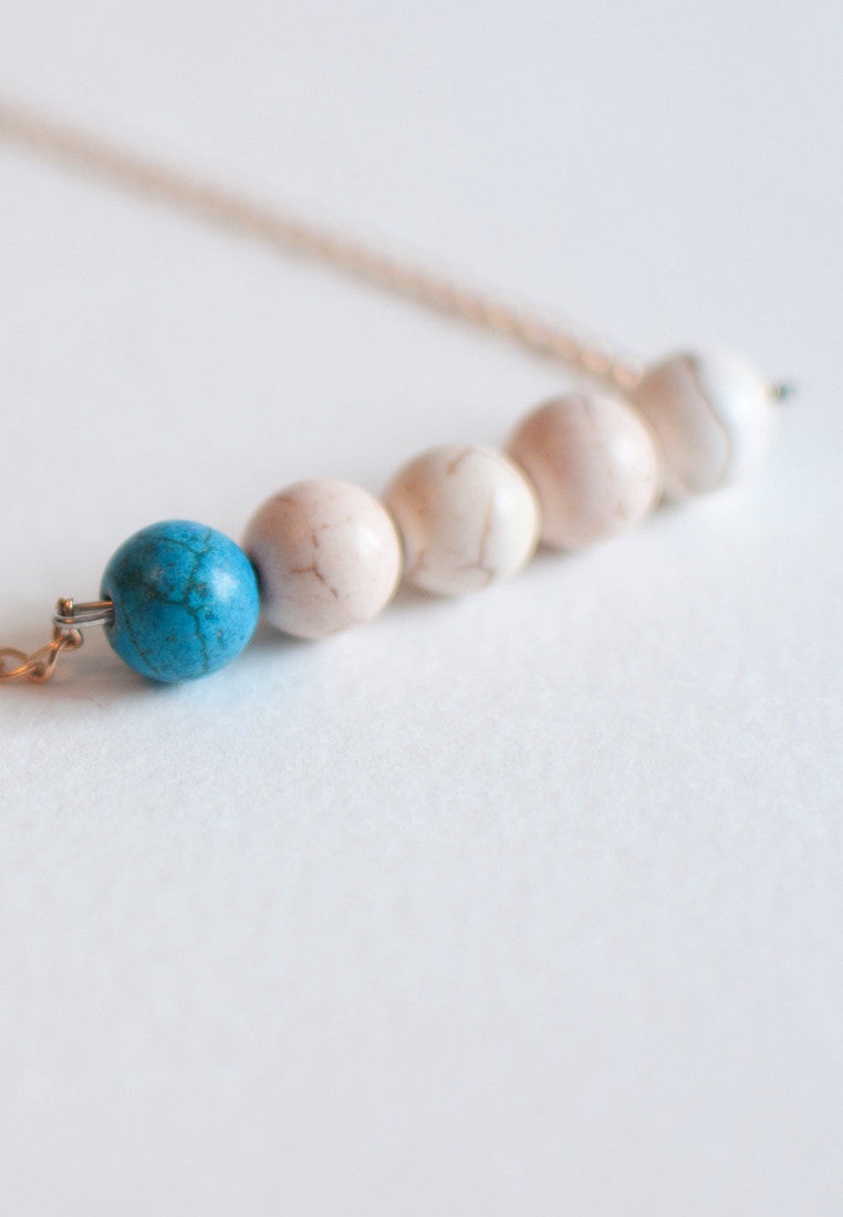 Simple Blue Necklace - sanwaitsai