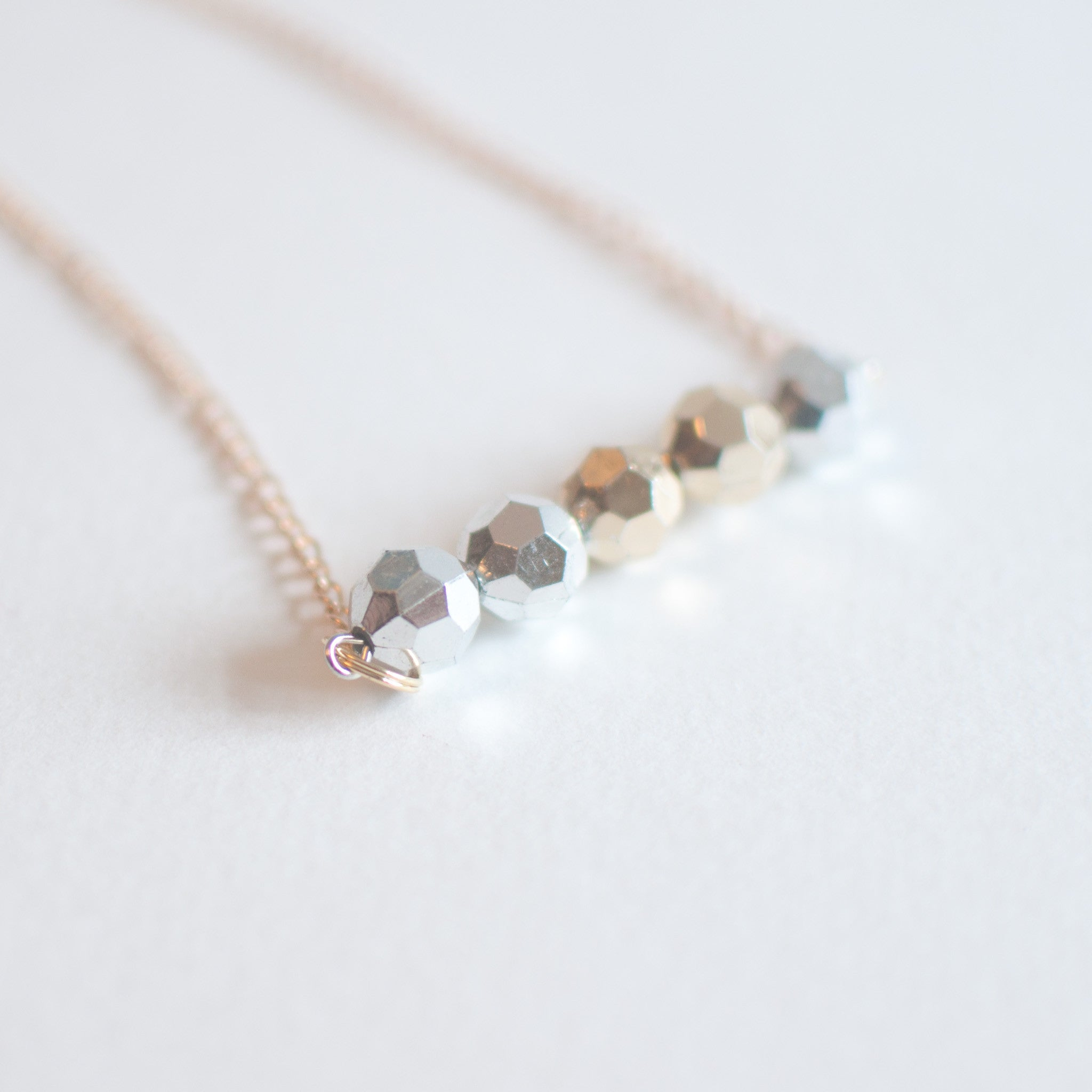 Disco Beads Pendant Necklace - sanwaitsai