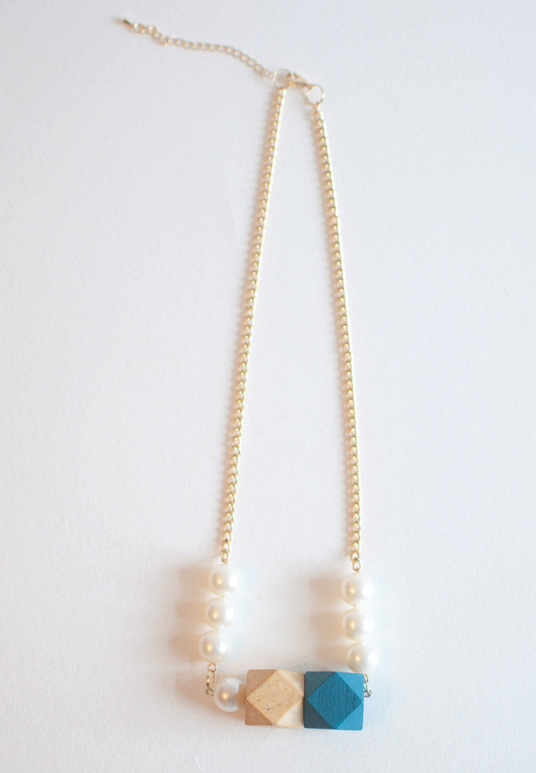 Japanese Cotton Pearls Necklace - sanwaitsai