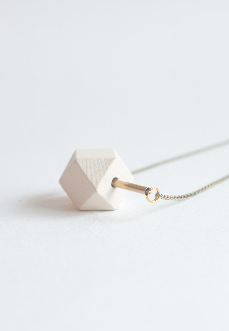 Simple Geometric Necklace - sanwaitsai