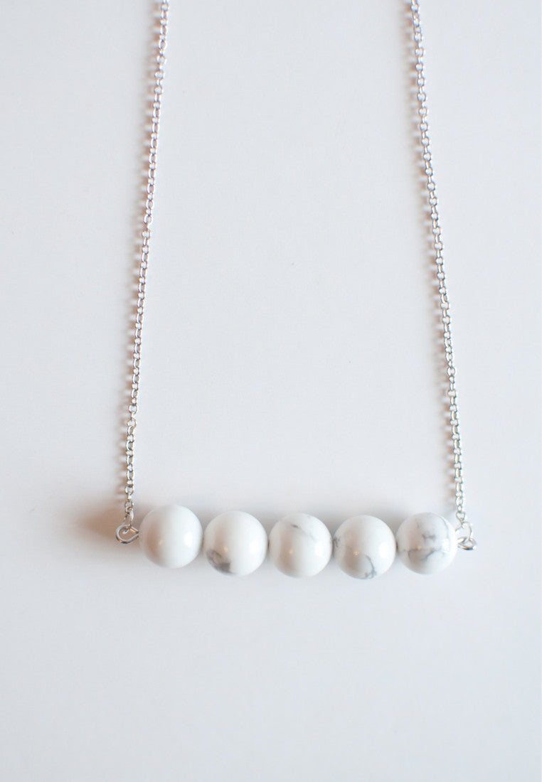 Howlite Japan Stone Necklace - sanwaitsai