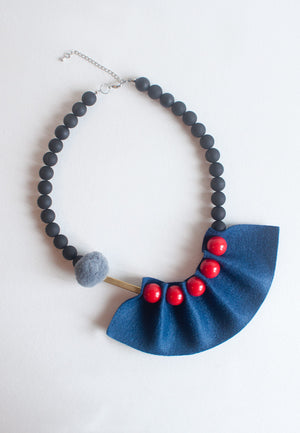 Blue & Red Necklace - sanwaitsai