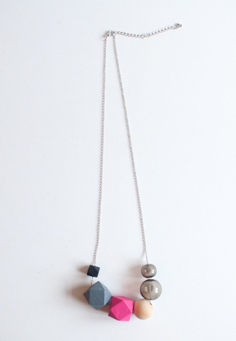 Glass Beads Necklace - sanwaitsai
