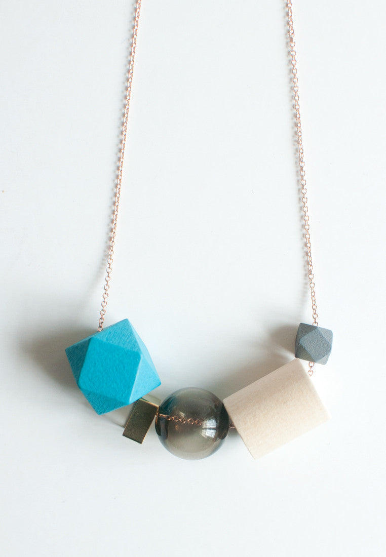 Tinted Glass Necklace - sanwaitsai
