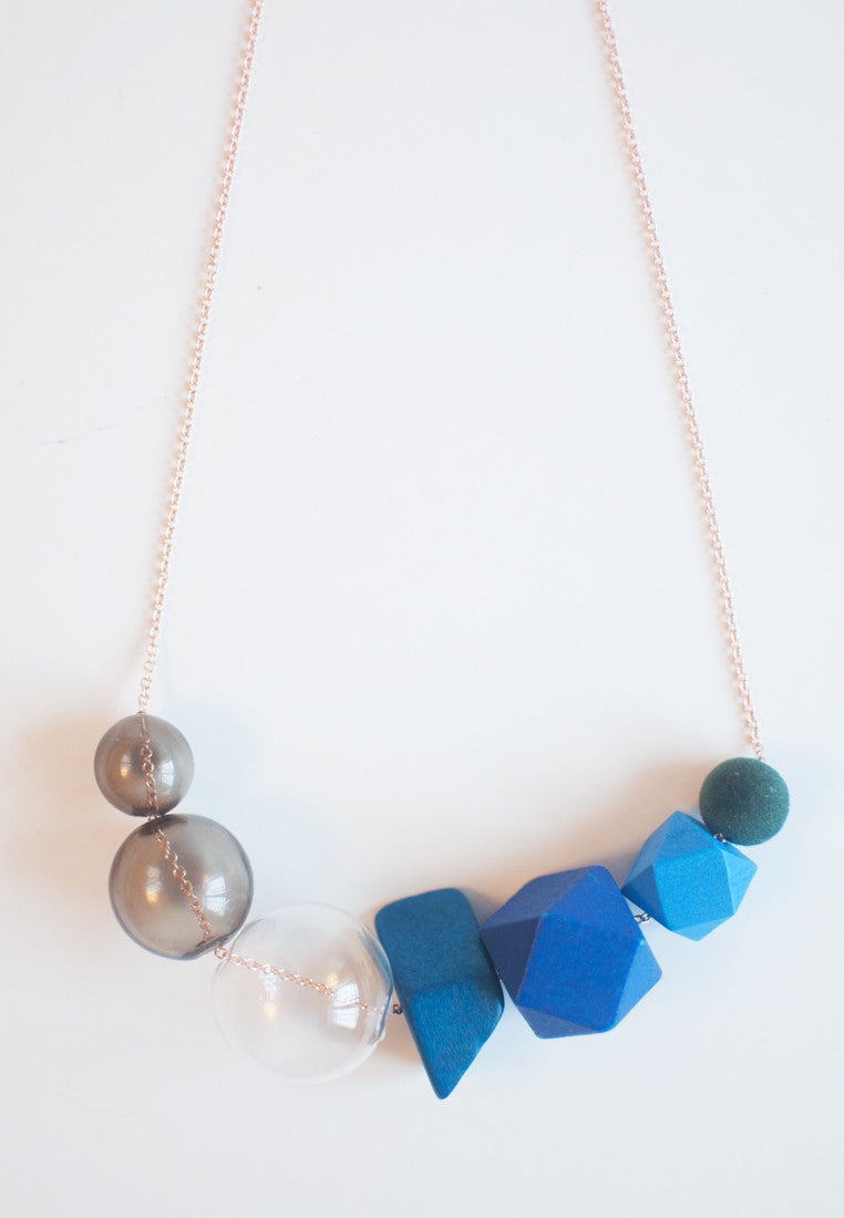 Multicolor Wood Necklace - sanwaitsai