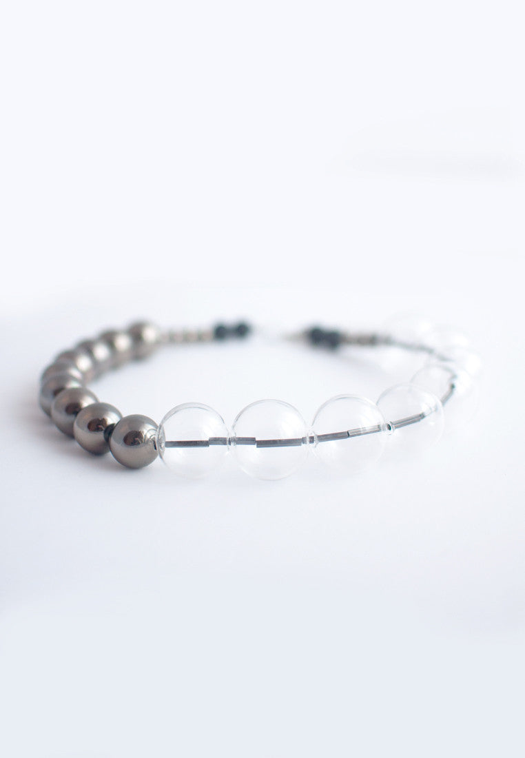 Metal Glass Bead Necklace - sanwaitsai