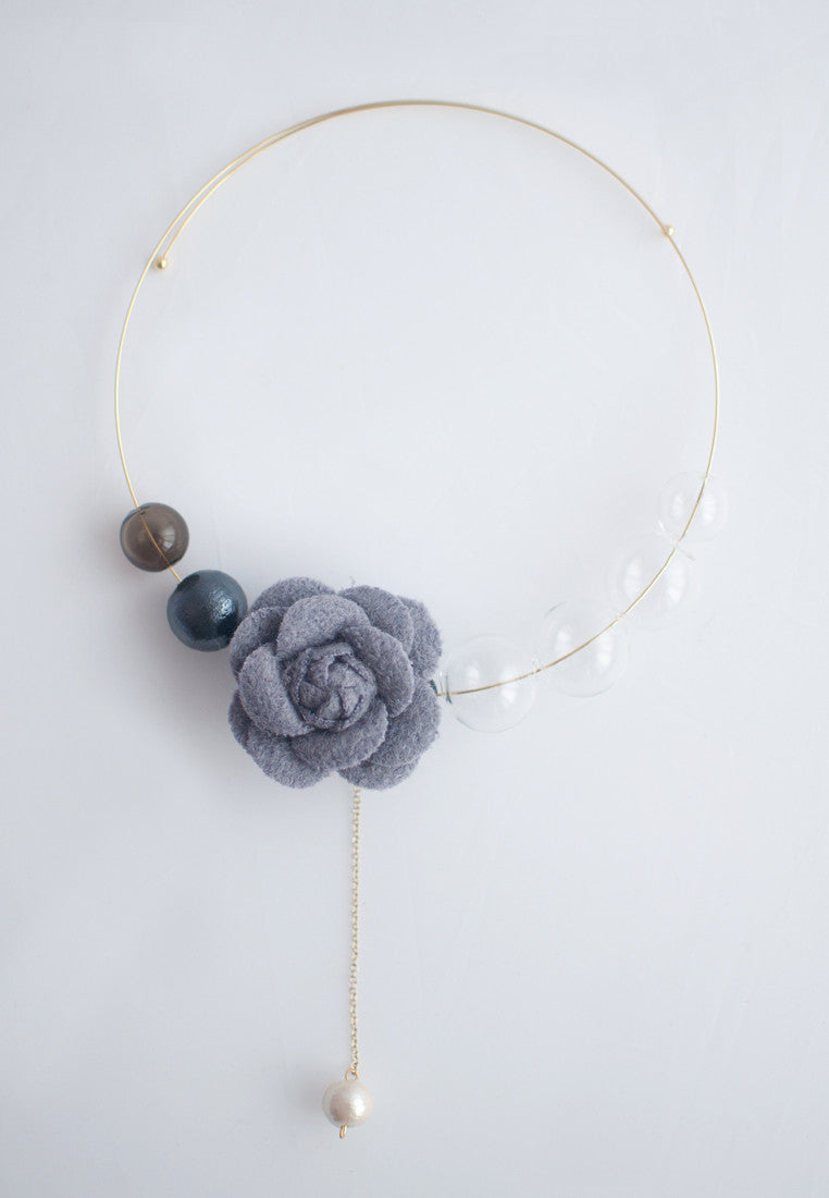 Glass Bead Collar Necklace - sanwaitsai