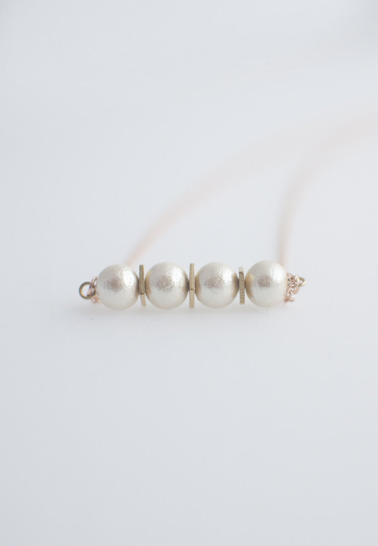 Japanese Cotton Bead Necklace - sanwaitsai