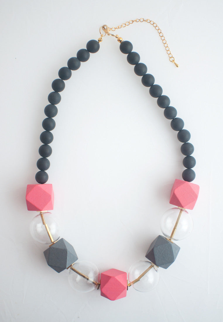 Glass Beaded Necklace - sanwaitsai