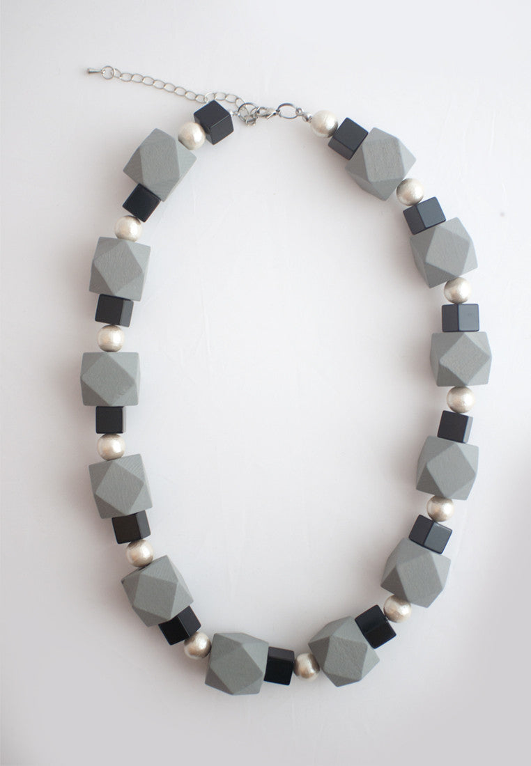 Black White Grey Necklace - sanwaitsai