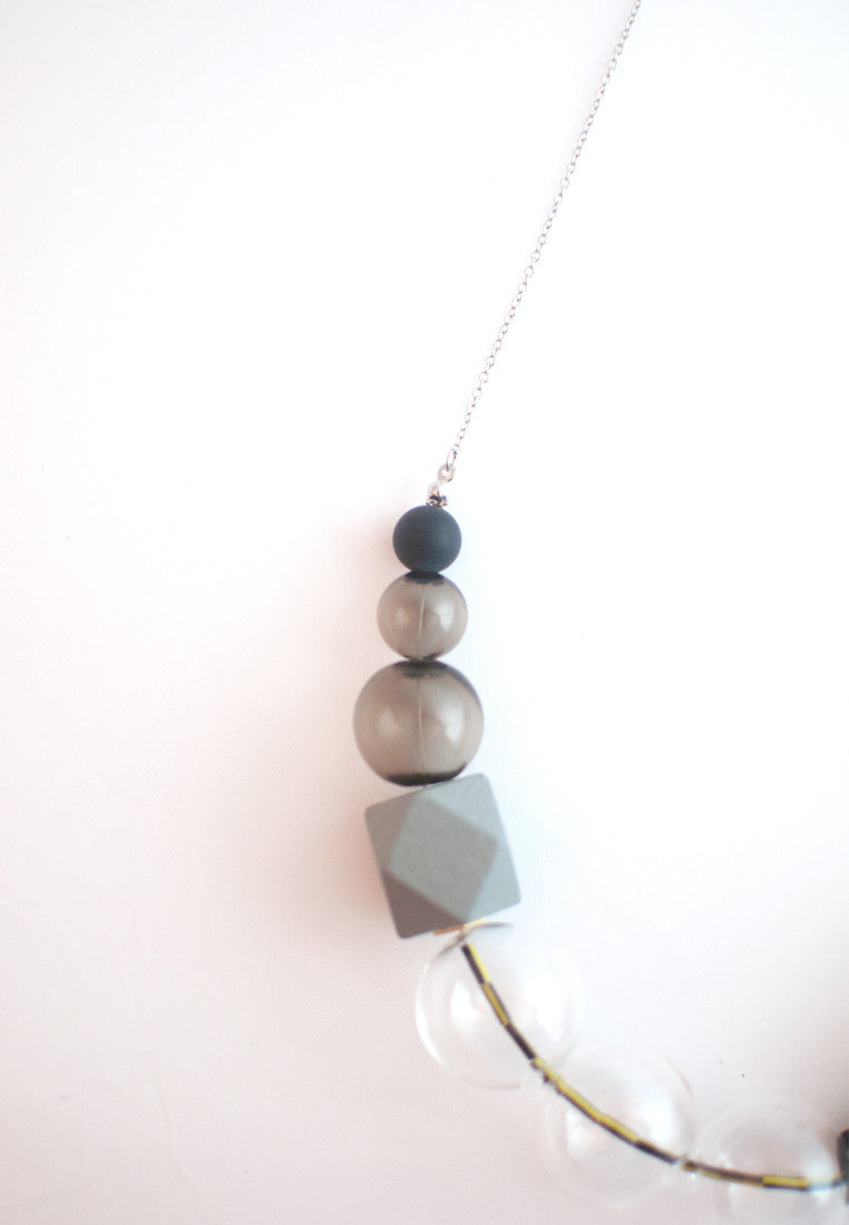 Wood & Glass Necklace - sanwaitsai - 4