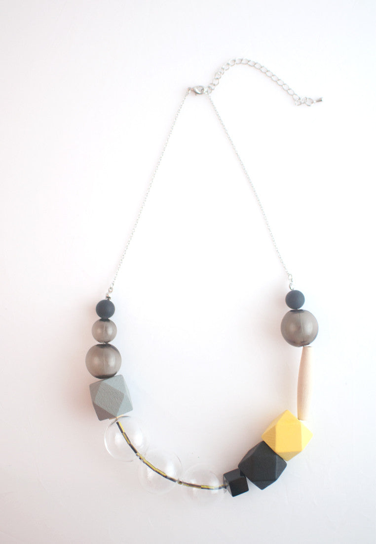 Wood & Glass Necklace - sanwaitsai - 2
