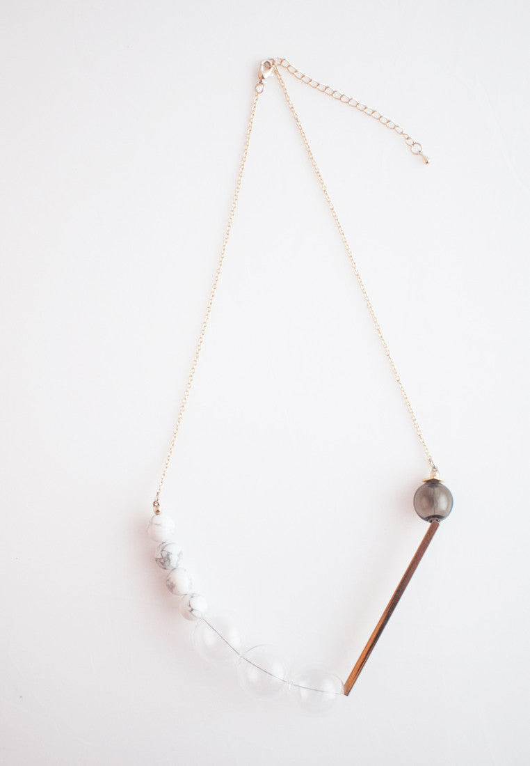 Howlite Glass Necklace - sanwaitsai - 3