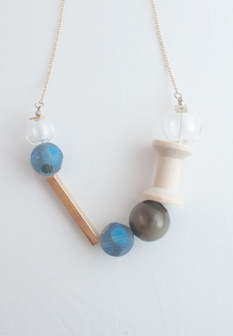 Matte Glass Necklace - sanwaitsai - 2
