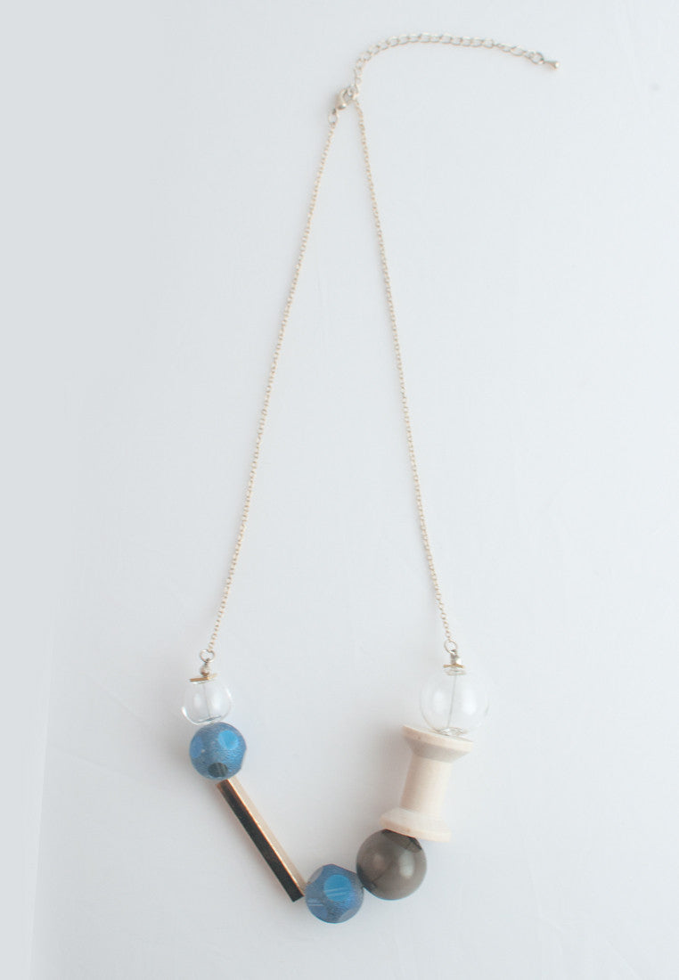 Matte Glass Necklace - sanwaitsai - 3