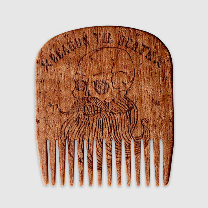Bartkamm No.5 Beards Til Death Makore - Skull