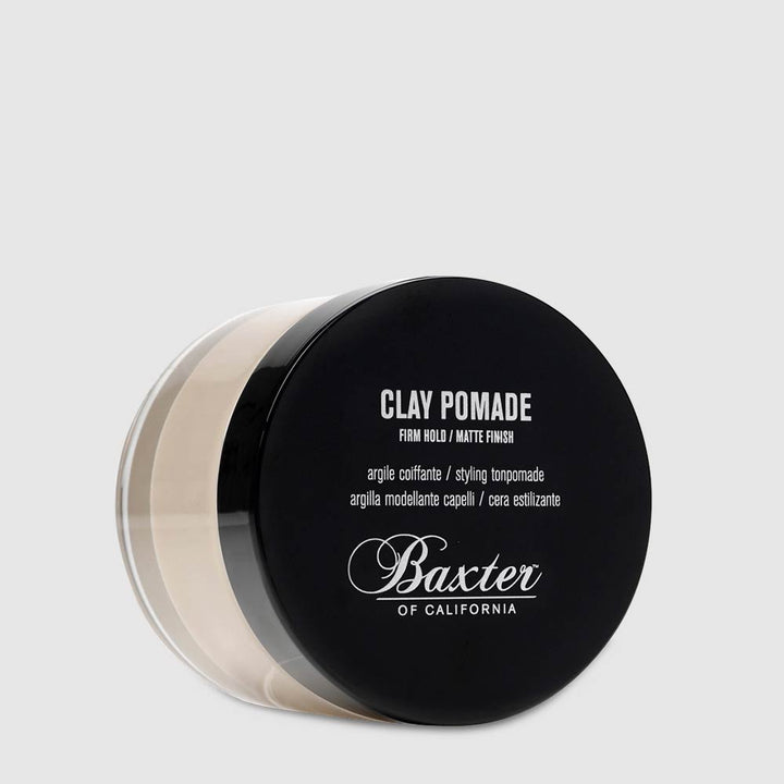 Clay Pomade – Hard Hold, Semi-Matte Finish