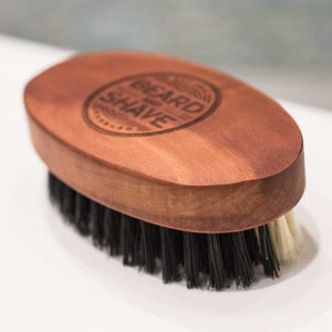 Beard and Shave - Double Beard Brush Soft & Strong - Bartbürste