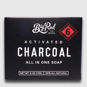 Big Red All-In-One Soap - Charcoal - Beard and Shave - 1