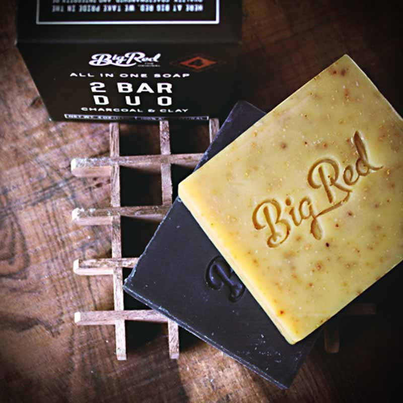 big red all in one soap duo bartshampoo beard and shave. Black Bedroom Furniture Sets. Home Design Ideas