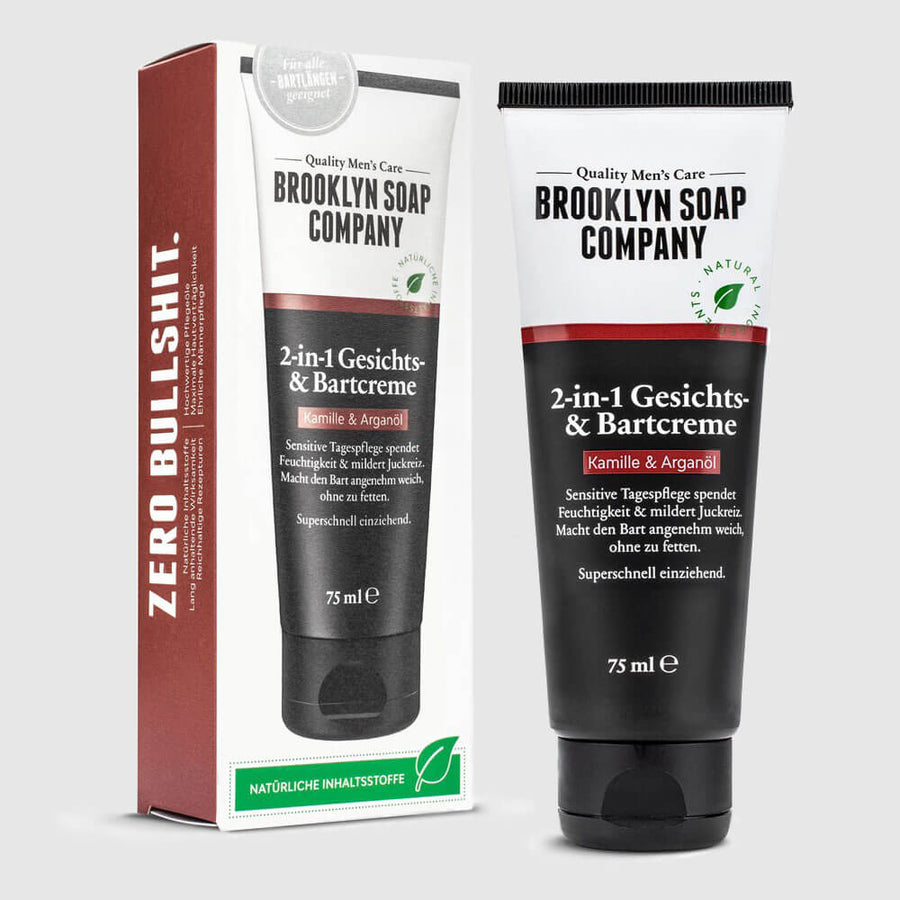Brooklyn Soap Company – 2in1 Gesichts- & Bartcreme