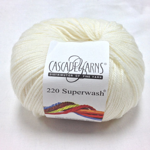 Cascade - Light Worsted Weight - 220 Superwash - Winter White 910A