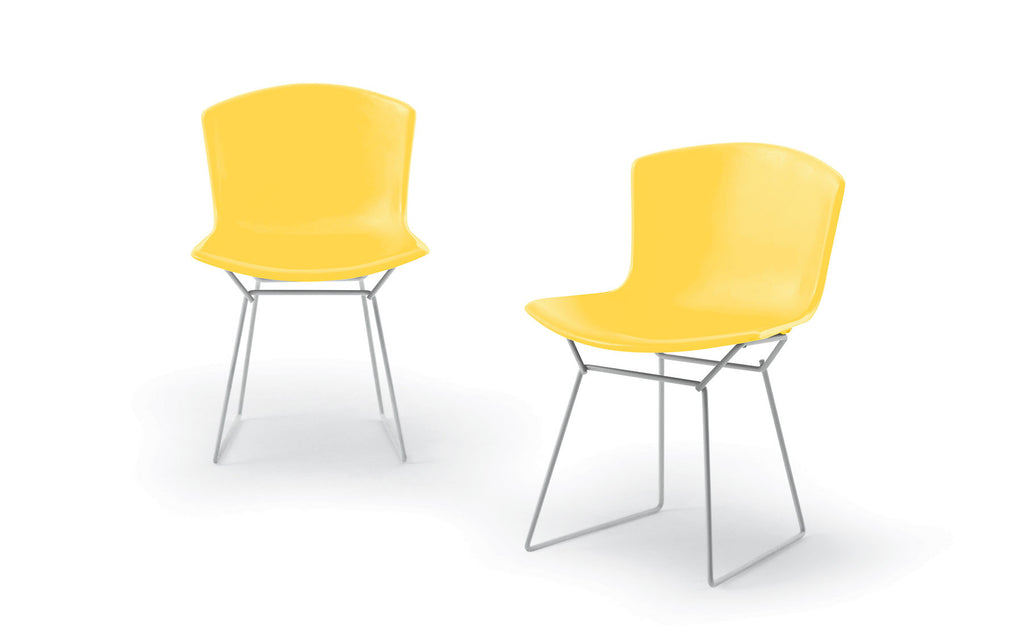 Plastic Bertoia side chair