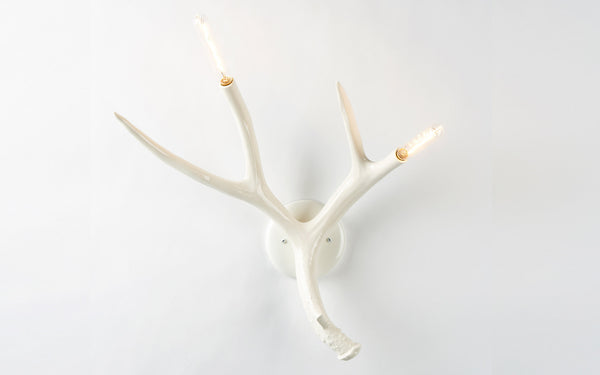 White Antler Wall Lights : Superordinate Antler wall lamp SCP