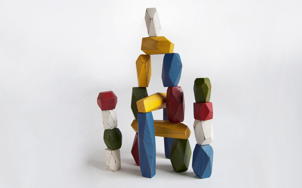 Balancing blocks-coloured